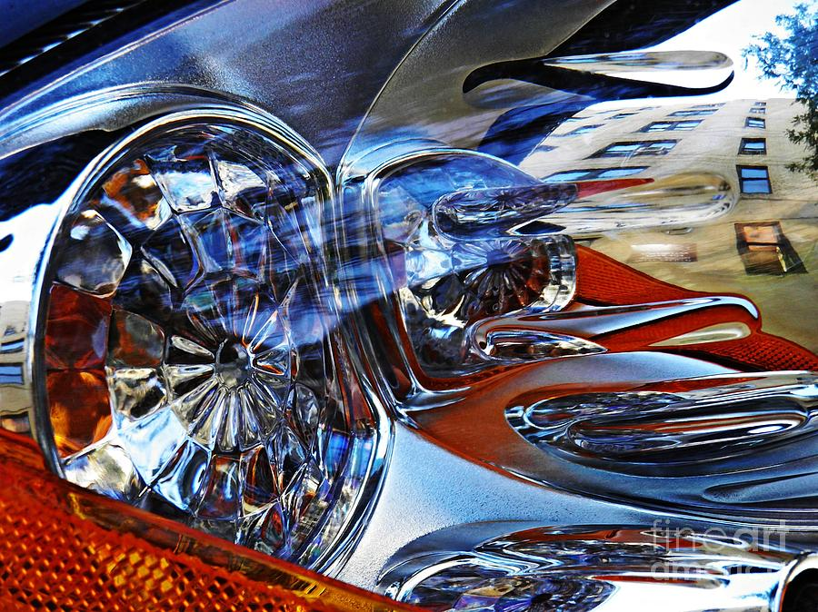 Headlight Photograph - Auto Headlight 127 by Sarah Loft