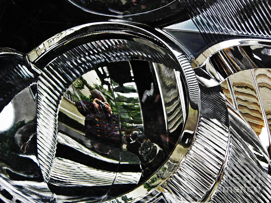Headlight Photograph - Auto Headlight 133 by Sarah Loft