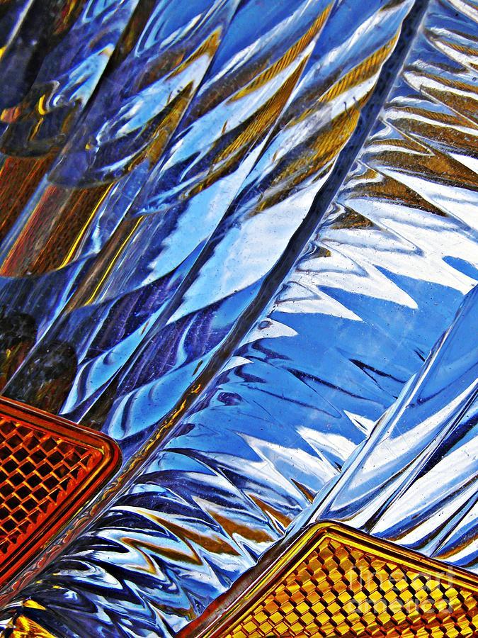 Glass Photograph - Auto Headlight 29 by Sarah Loft