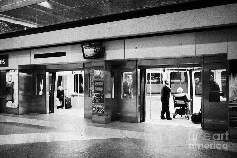 Automated Photograph - automated guideway transit system at Denver International Airport Colorado USA by Joe Fox