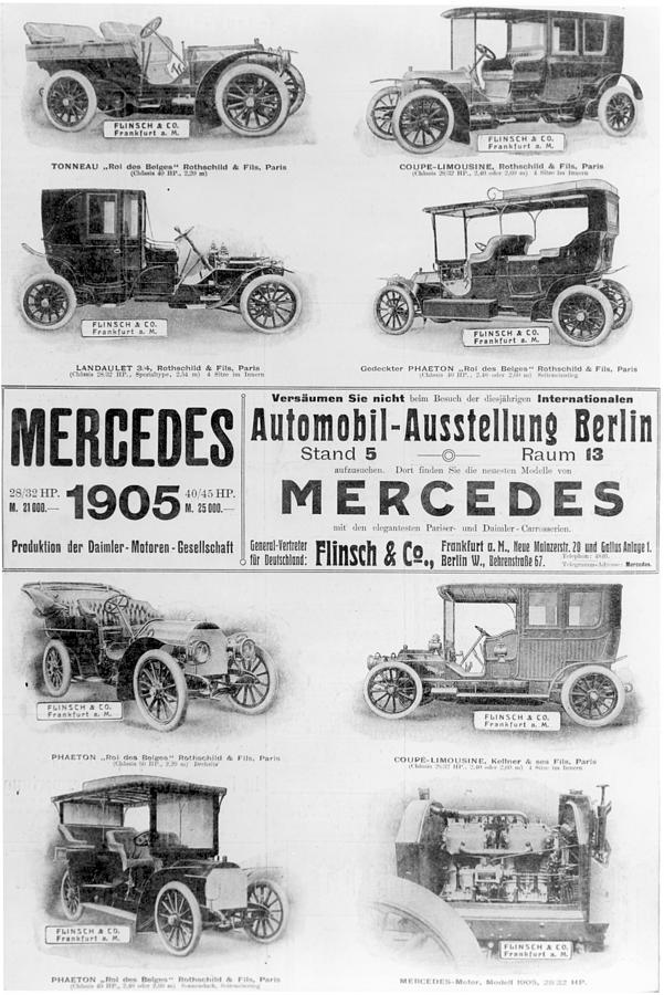 1905 Painting - Automobile Ad, 1905 by Granger