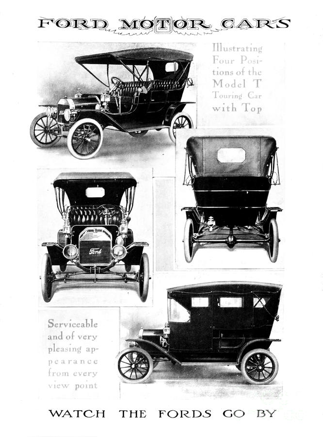 1912 Drawing - Automobile Advertisement by Granger