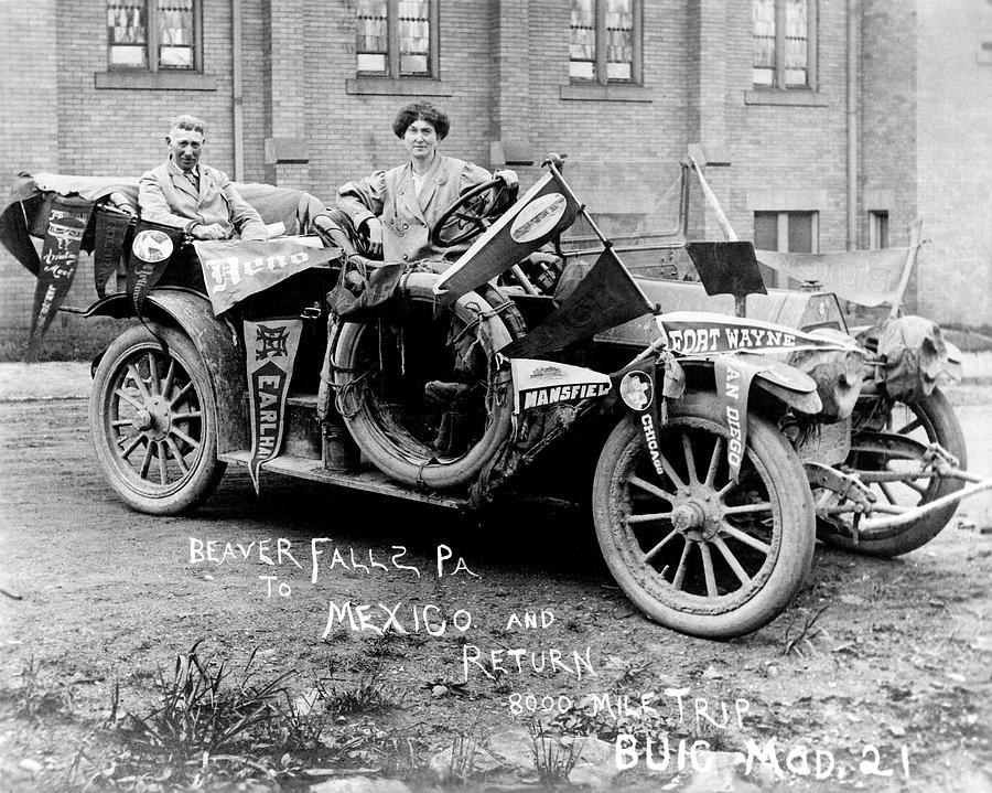 1910 Photograph - Automobile Buick, C1915 by Granger