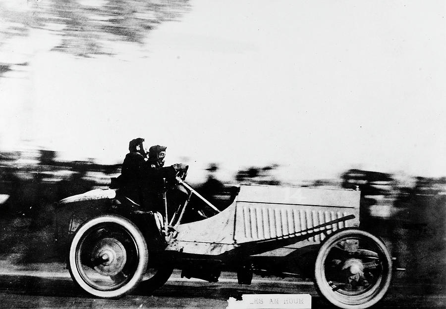 1905 Photograph - Automobile Racing, 1905 by Granger