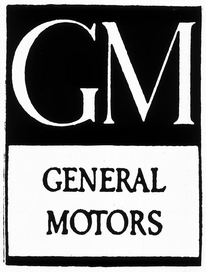 1908 Painting - Automobiles Gm Logo by Granger