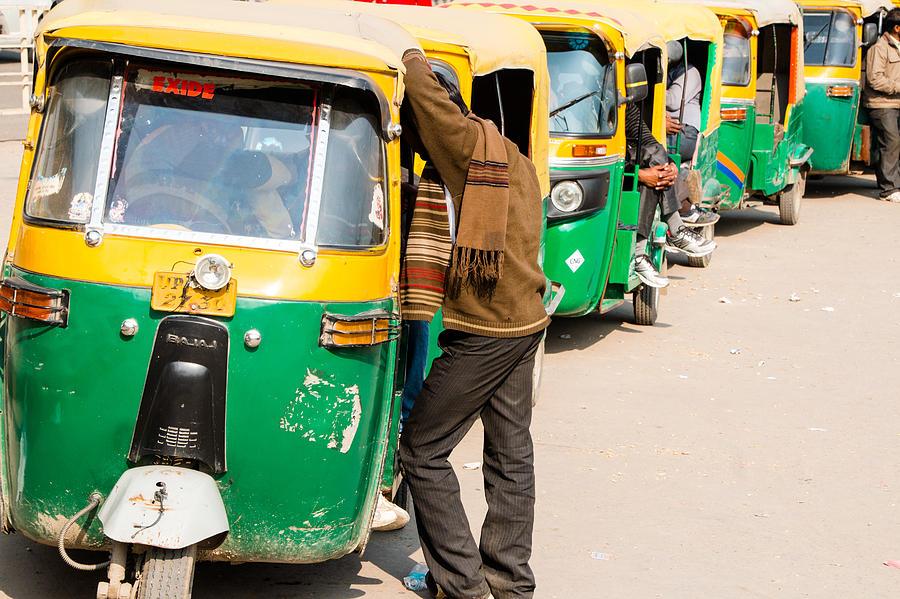 Bajaj Photograph - Autorickshaw Row by Gaurav Singh