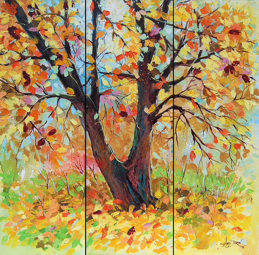Acrylic Painting - Autumn 1 by Anju Saran