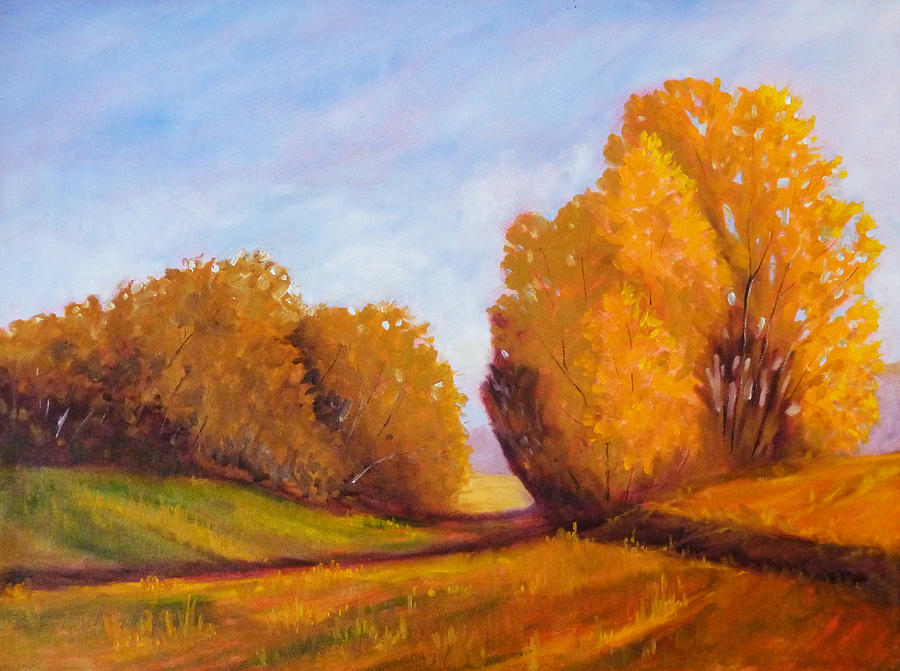 Tree Painting - Autumn Afternoon by Nancy Merkle