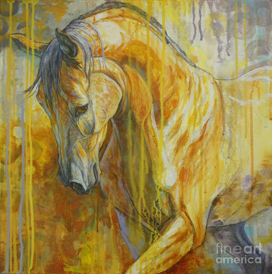 Horse Painting - Autumn Air by Silvana Gabudean Dobre