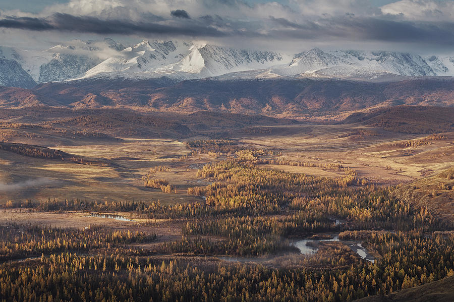 Landscape Photograph - Autumn Altai Mountains by Dmitry Kupratsevich