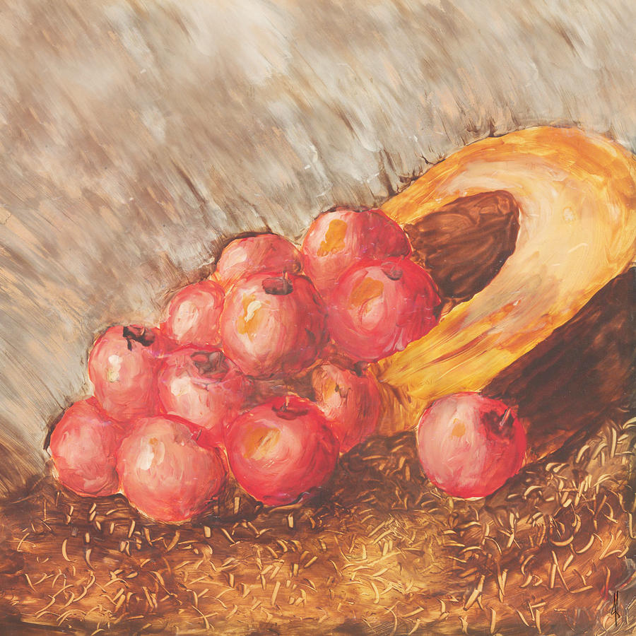 Apples Painting - Autumn Apples by Jacob Cane