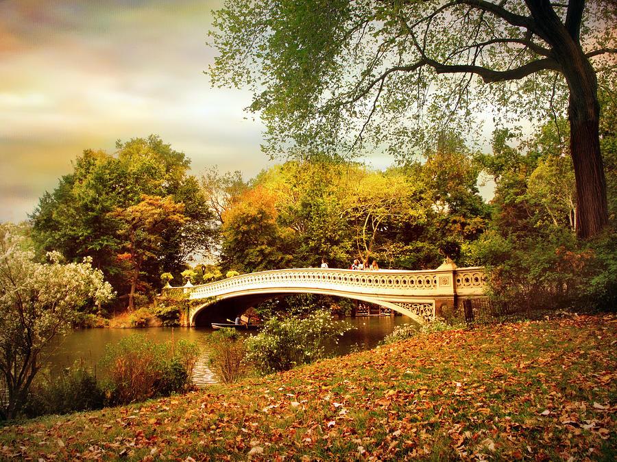 Autumn Arrives At Bow Bridge Photograph