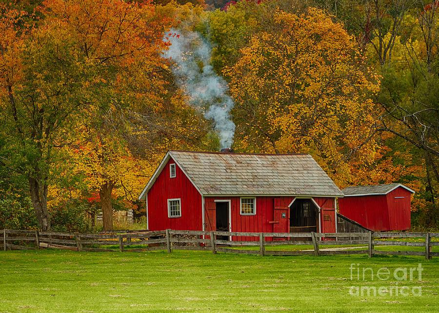 Autumn Landscapes Photograph - Autumn At Hale Farm by Joshua Clark