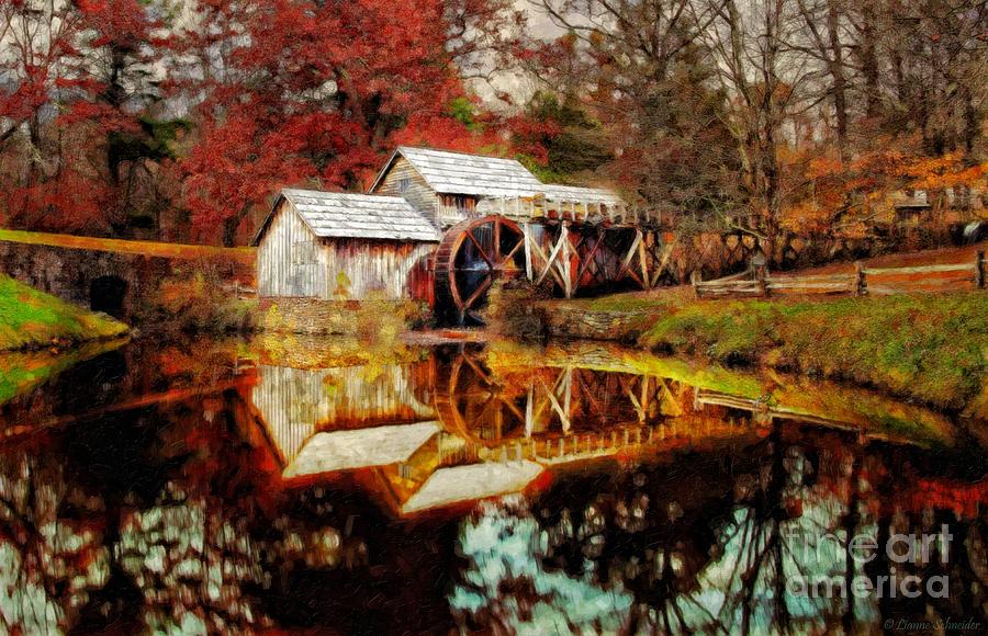 Autumn At Mabry Mill Digital Art