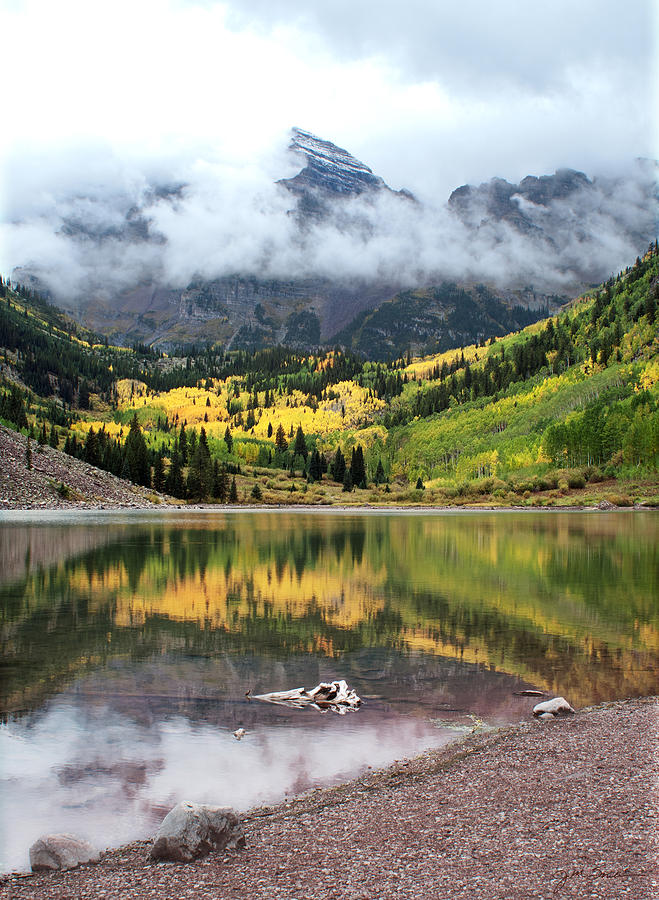 Aspen Photograph - Autumn At Maroon Bells In Colorado by Julie Magers Soulen