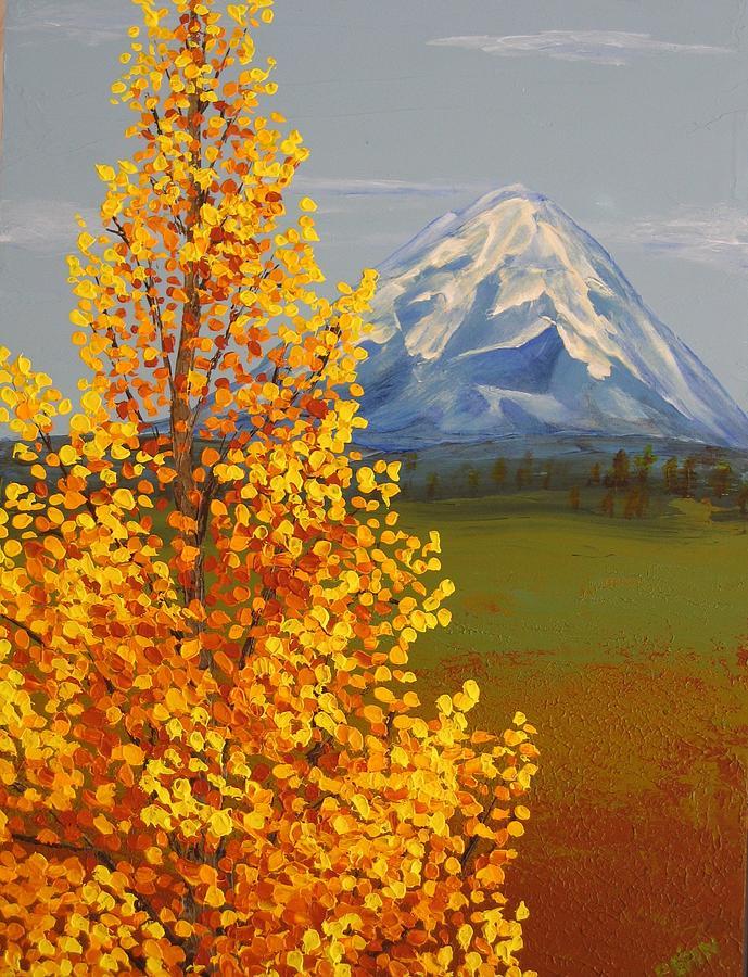 Mt. Shasta Painting - Autumn At Mt Shasta by Wanda Pepin