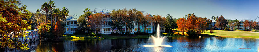 Ablaze Photograph - Autumn At Old Key West Resort Panorama Walt Disney World by Thomas Woolworth