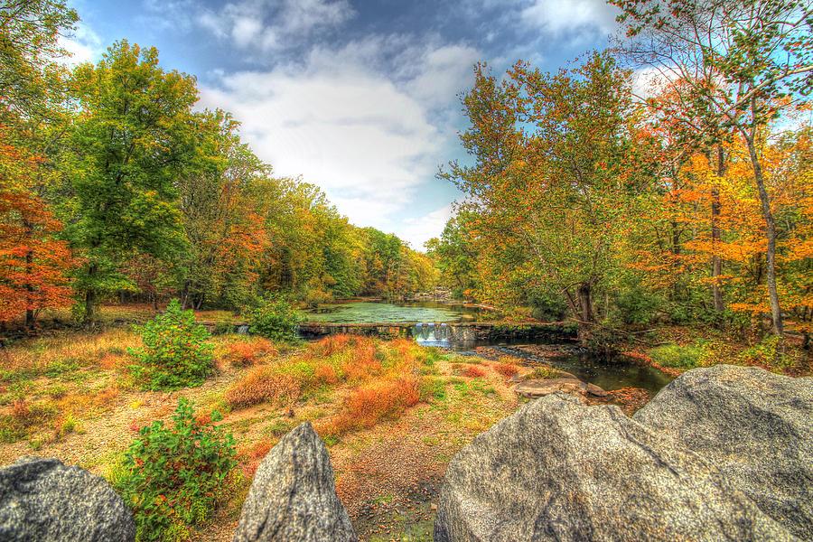 Autumn Photograph - Autumn At The Creek - Green Lane - Pennsylvania - Usa by Mother Nature