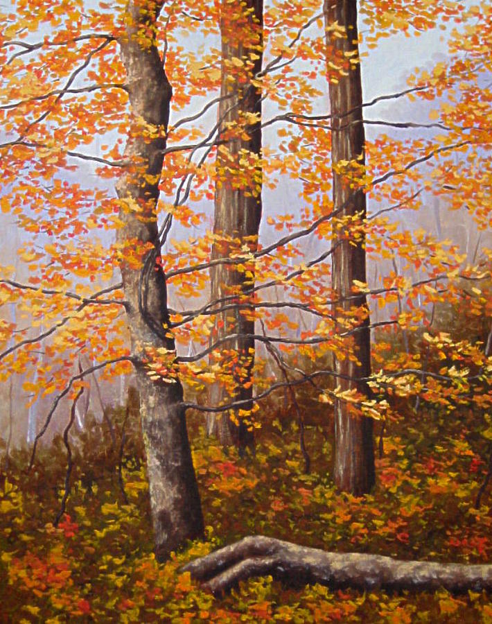 Autumn Painting - Autumn At Tishomingo State Park by Darla Brock