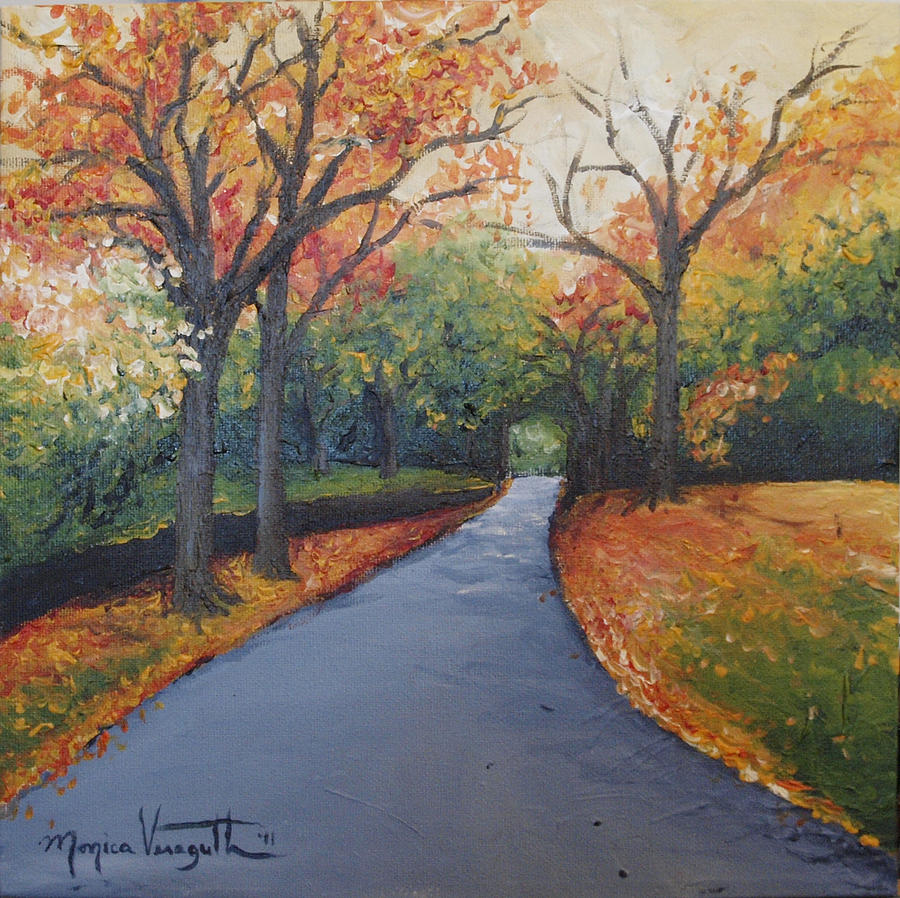 Painting Painting - Autumn At Woodlawn by Monica Veraguth