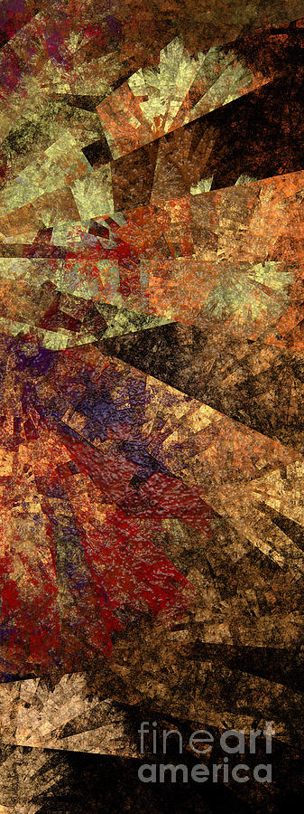 Abstract Digital Art - Autumn Bend by Andee Design