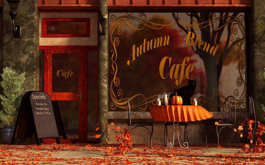 Cat Digital Art - Autumn Blend by Daniel Eskridge