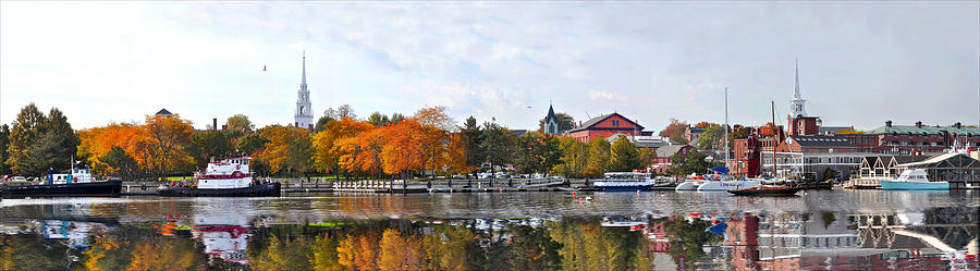 Newburyport Photograph - Autumn Boardwalk 2010 by John Brown