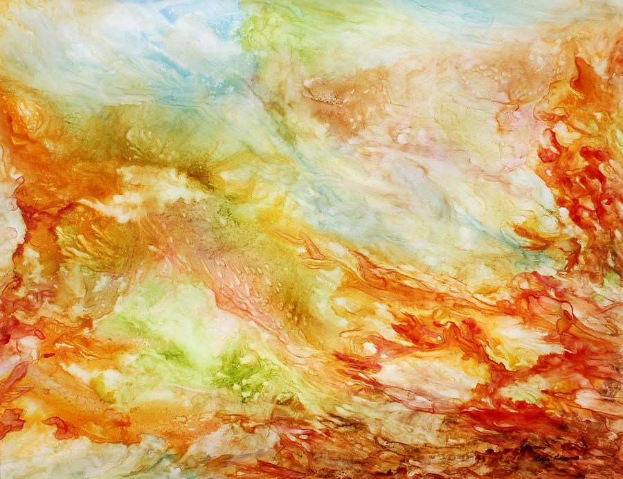 Abstract Painting - Autumn Breeze by Rosie Brown
