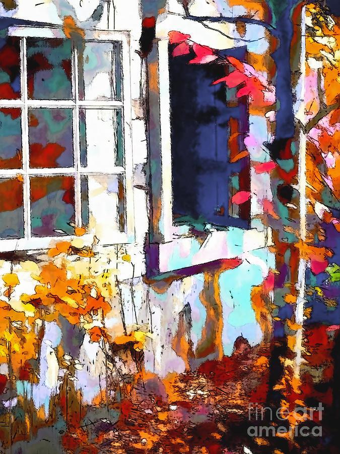 Windows Photograph - Autumn Breeze Through Open Windows    Windows by Barbara D Richards