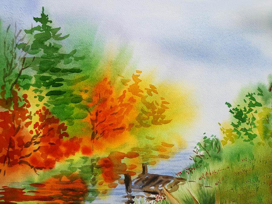 Autumn Burst Of Fall Impressionism by Irina Sztukowski