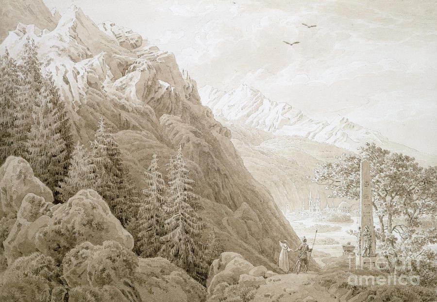Landscape Painting - Autumn by Caspar David Friedrich