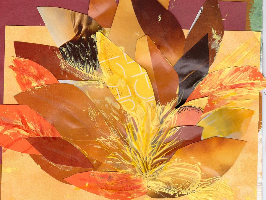 Fall Mixed Media - Autumn Collage Work In Progress by Anne-Elizabeth Whiteway