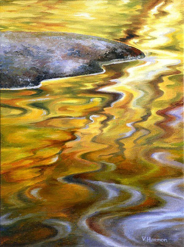 Landscape Painting - Autumn Color Reflection by Varvara Harmon