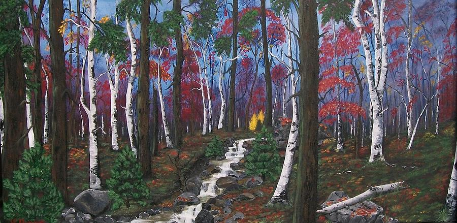 Pine Trees  Painting - Autumn Colours by Sharon Duguay