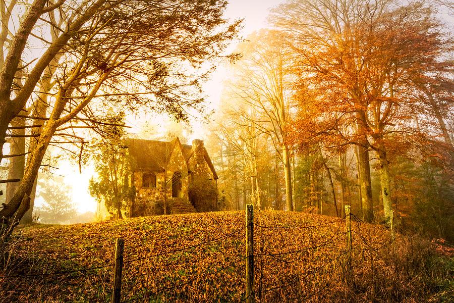 Appalachia Photograph - Autumn Cottage by Debra and Dave Vanderlaan
