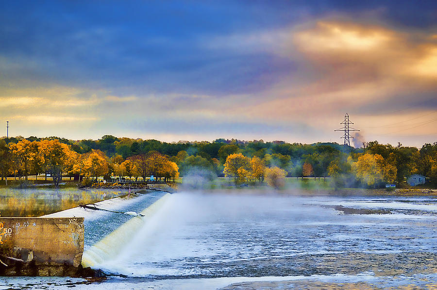 Autumn Photograph - Autumn Dam by Troy Schopp