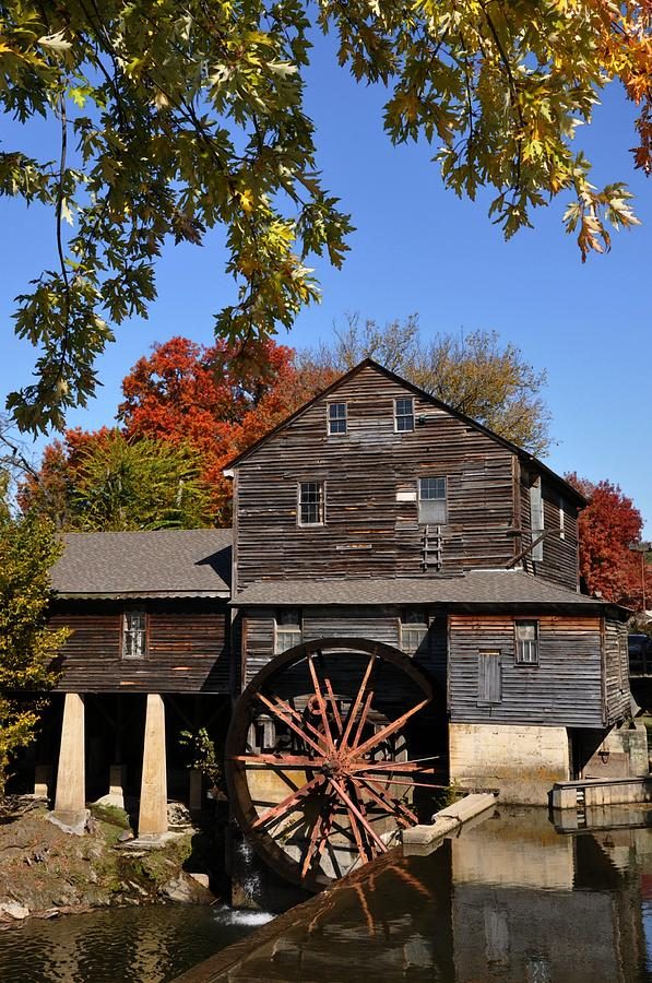 Pigeon Forge Photograph - Autumn Day At The Old Mill by John Saunders