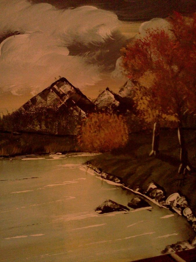Autumn  Day  Painting by Renee McKnight