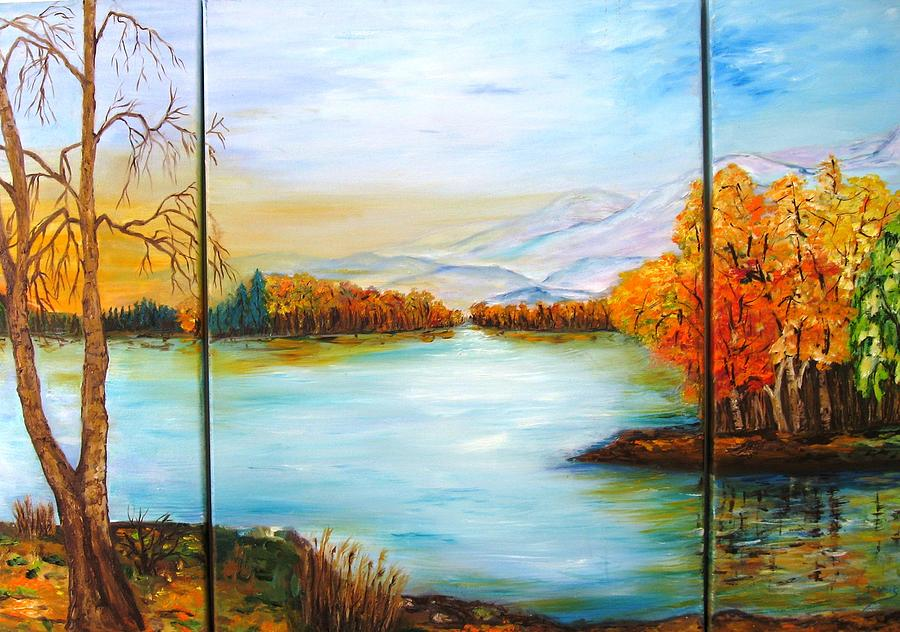 Autumn Painting - Autumn by Doris Cohen