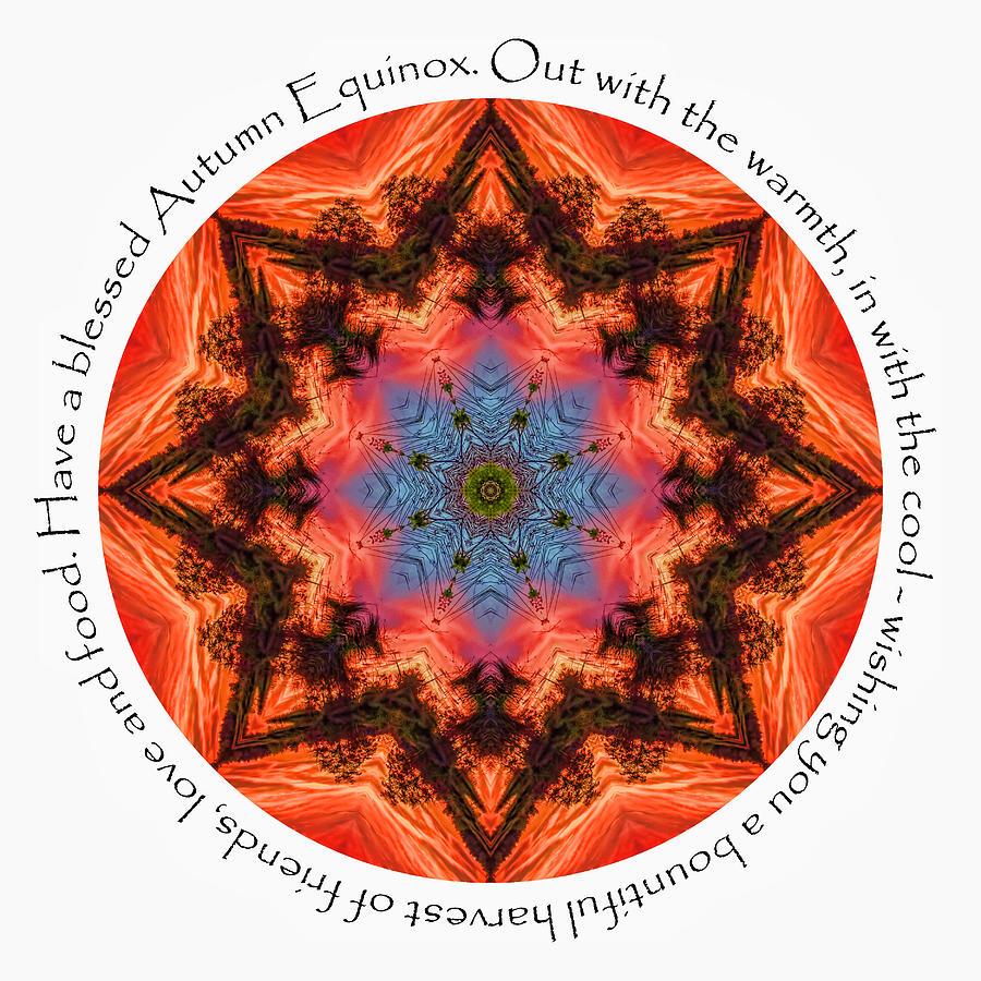 Fall Equinox Digital Art - Autumn Equinox Mandala by Beth Sawickie