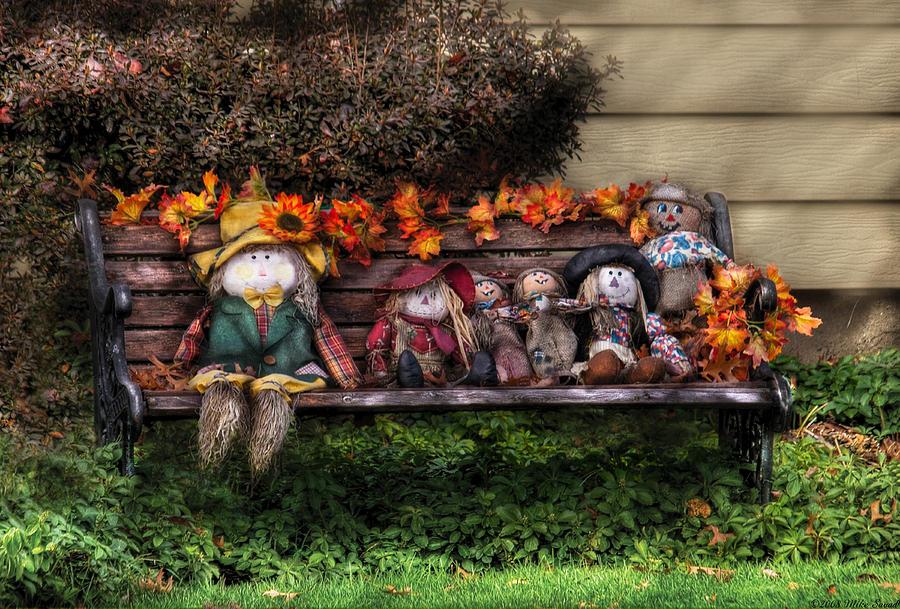 Savad Photograph - Autumn - Family Reunion by Mike Savad
