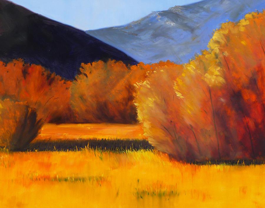 Autumn Painting - Autumn Field by Nancy Merkle