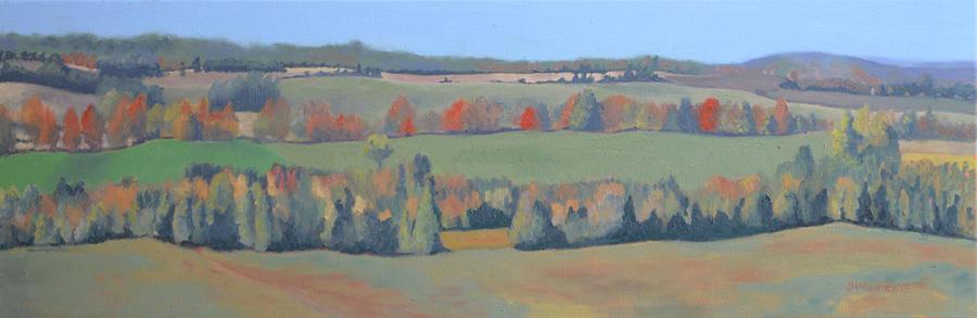 Autumn Scenes Painting - Autumn Fields by Joan McGivney