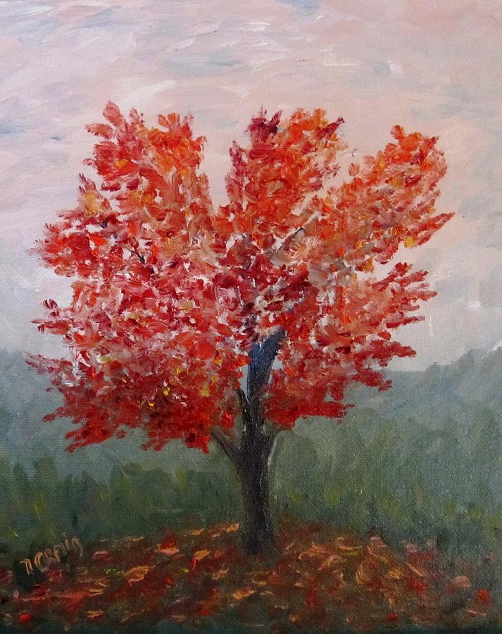Landscape Painting - Autumn Fire by Nancy Craig