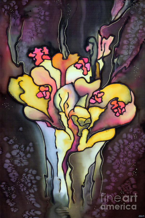 Silk Painting Painting - Autumn Fire by Ursula Schroter