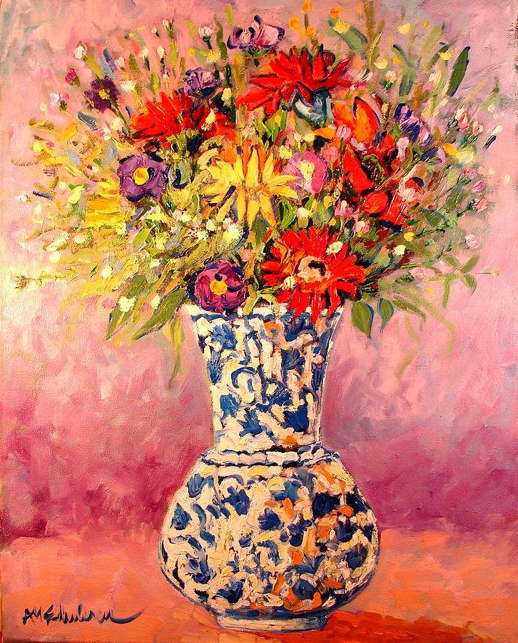 Flowers Painting - Autumn Flowers by Ana Maria Edulescu
