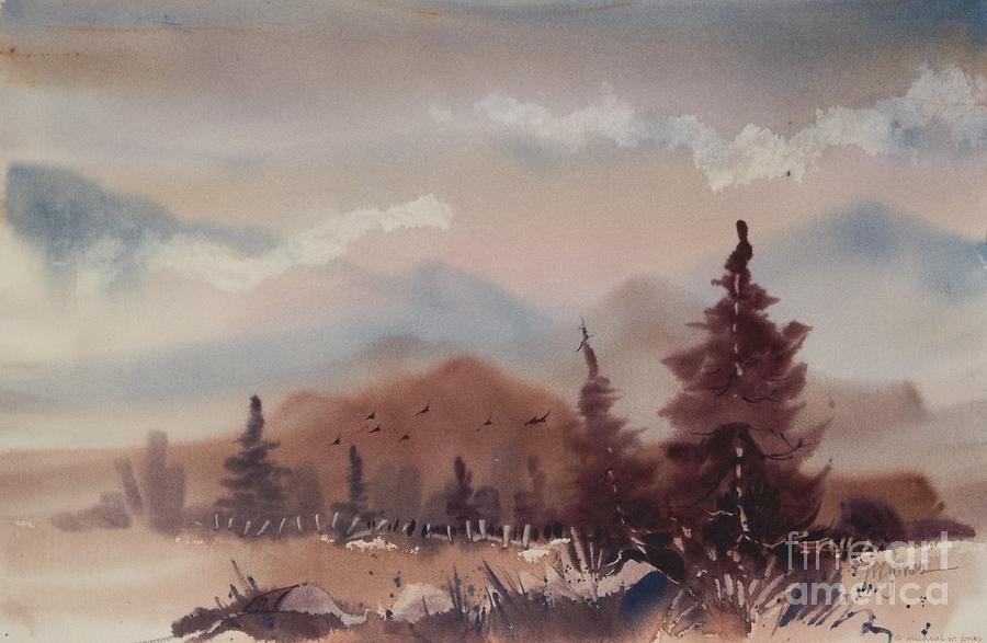 Autumn Painting - Autumn Fog by Micheal Jones