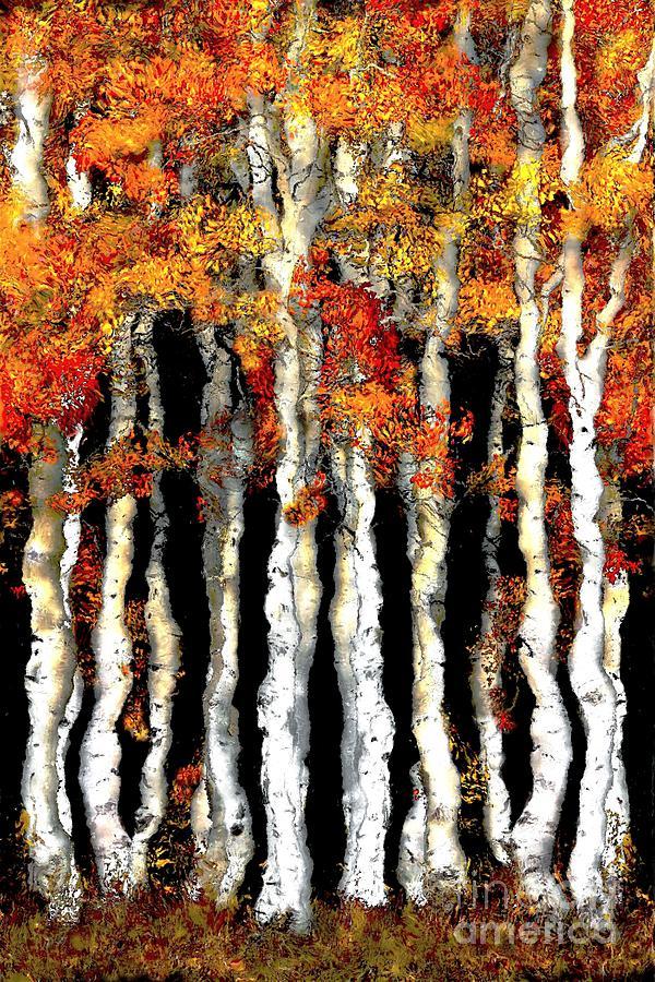 Autumn Digital Art - Autumn Forest by Maurisca Sardju