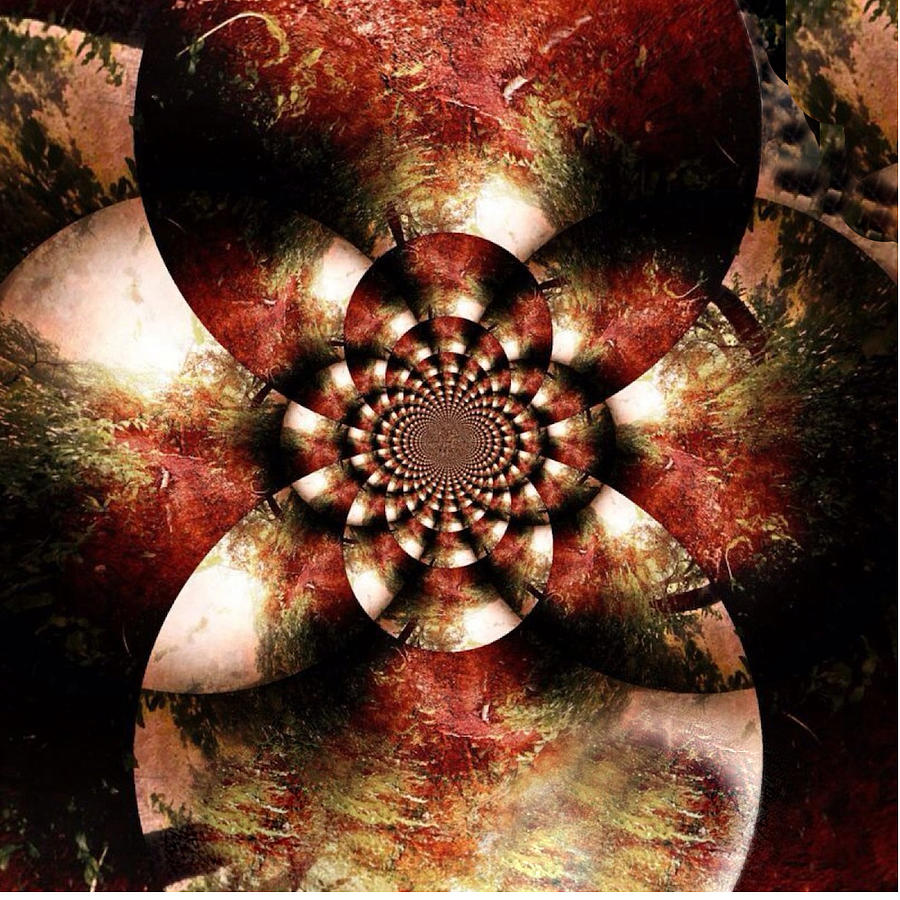 Fractals Digital Art - Autumn Fractal Abstract by Maggie Vlazny