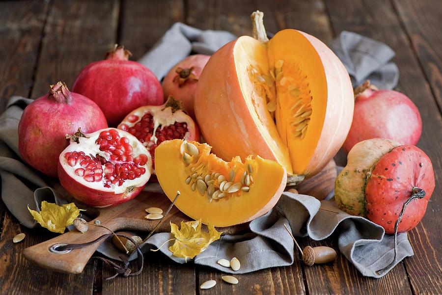 autumn fruit and veggies pumpkins photographverdina anna